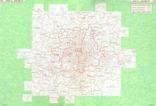 GREATER LONDON. Postal Districts & postal codes 1964 old vintage map chart