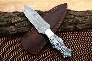 MH KNIVES CUSTOM HANDMADE DAMASCUS STEEL FULL TANG HUNTING/SKINNER KNIFE MH-409K