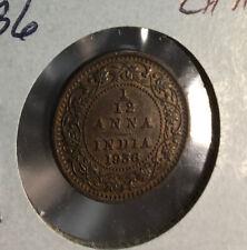 India 1936 1/12 Anna CH AU