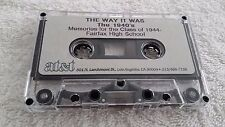 Cassette Tape  Memories for the Class of 1944 Fairfax High School