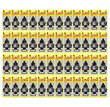 48x Black Ice Little Trees Hanging Air Freshener Car Truck RV Home Office