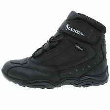 Richa Slick Mens Short Ankle Waterproof Motorcycle Boots - Black With Free Gift!