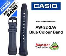 REPLACEMENT CASIO WATCH BAND ORIGINAL ONLY FITS: AW-82-2A BLUE COLOUR BAND