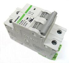 15 Amp Noark 2 Pole Din Rail MCB Circuit Breaker UL 230 240 480 Volt Class D