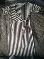 River island short Sleeve stripped pencil dress Size 8