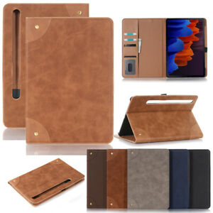 """For Samsung Galaxy Tab S7 11.0"""" T870 Folio Leather Wallet Stand Card Case Cover"""