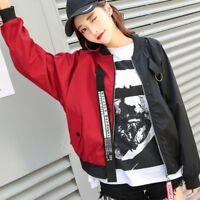 Short Jacket Women New Korean Version Loose Harajuku Color Baseball Jacket KL