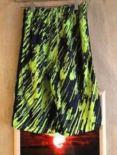 Nike Dri-Fit boys L basketball short green black 2-front pockets polyester