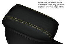 YELLOW STITCH ARMREST LEATHER SKIN COVER  FITS TOYOTA AURIS 2012-2015