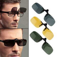 Unisex Driving Night Vision Clip-on Flip-up Eyewear Polarized LensAnti-UV400 JUG
