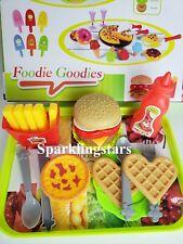 Kitchen Pretend Food Hamburger Fries Ketchup Toy Set Chef Kitchen Toy