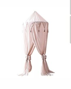 Pretty pink bed canopy tent reading corner princess NEW girls bed accessories