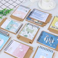 2020 Cute cat plants Desktop Paper Calendar duals Daily Schedulers Table Plan tx