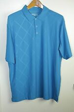 Mens Nike Large Short Sleeve Golf Shirt Polo Diamonds Blue Oudoors Casual Sports