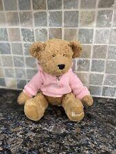 Harrods Toy Kingdom Heart Sweater Large Teddy Bear Hoodie Jumper Pink