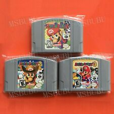 Three Games Mario Party 1 & 2 & 3 - For Nintendo 64 Video Games Cartridges N64