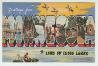 [70316] OLD LARGE LETTER POSTCARD GREETINGS FROM MINNESOTA