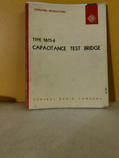 General Radio Type 1611 B Capacitance Test Bridge Operating Instructions