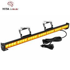 "YITAMOTOR 31"" 28 LED Waterproof LED Emergency Strobe Light Traffic Advisor Amber"