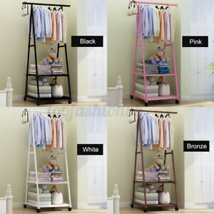 Metal Clothes Holder Storage Rack Garment Display Hanger Home Organizer
