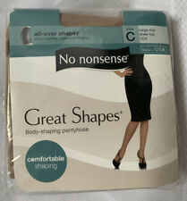 No Nonsense Great Shapes Pantyhose Body Shaping Comfortable Sz C Beige Mist