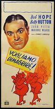 LOCANDINA, VOGLIAMO DIMAGRIRE Let's Face it BOB HOPE, BETTY HUTTON, POSTER RARO!