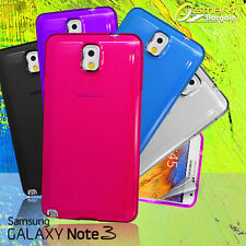 Gel Case For Samsung Galaxy Note 3 III N9005 N9000 + SG TPU Jelly Soft Cover