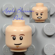 NEW Lego Star Wars Light FLESH MINIFIG HEAD - SW Luke Boy/Girl White Teeth Smile