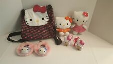 Lot of 7 items- Hello Kitty Toy Back Pack, 2 dolls, 2 key chains, 2 slippers