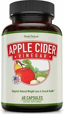 Extra Strength Apple Cider Vinegar Pills – Made from Pure, Raw, Organic ACV
