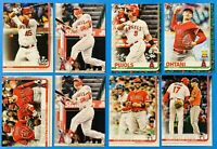 (8) 2019-2020 Topps Baseball Card Lot Mike Trout Albert Puljos LA Angels