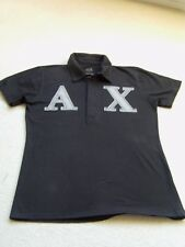 Boys  Black Short Sleeved 100% Cotton Collared Polo Shirt Large