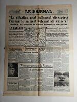 N356 La Une Du Journal Le journal 19 mai 1940 notre résistance affirme Duval