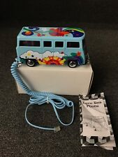 NOS VW Volkswagon Bus LOVE BUS Phone Telephone w/ PETER MAX like designs