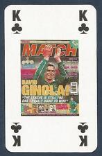 MATCH MAGAZINE-20 YEAR ANNIVERSARY COVER PLAYING CARD-NEWCASTLE-DAVID GINOLA-KC