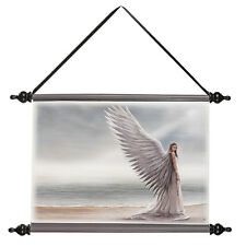 Enchanted Angel Spirit Guide Vinyl-Canvas Wall Hanging Scroll Tapestry Art