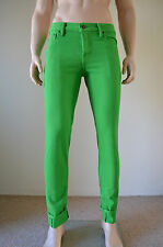 NUOVO Abercrombie & Fitch vintage skinny di jeans verde 32 X 32 RRP £ 78