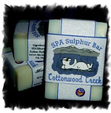 Stress Relief _Cottonwood_ SPA Sulphur Mineral Soap Made in Montana _Homemade