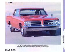 1964 Pontiac GTO Gran Turismo Omologato info/specs/photo production numbers 11x8
