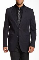ROBERT GRAHAM | Jarvis Cotton Slim Fit Sport Coat Jacket | Navy Blue | 44R