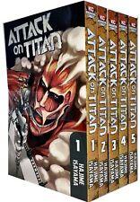 Attack On Titan Volume 1-5 Collection Hajime Isayama 5 Books Set Anime & Manga