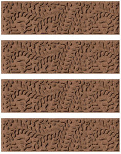 Stair Tread Cover Carpet Rug Anti Slip Non Skid Indoor Outdoor Brown Home 4 Set