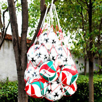 Basketball Football Soccer Outdoor Net Bag Ball Carry Colors Mesh Ball Holder D