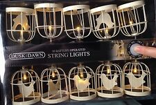 LED Lights 10 Bird Cage string hanging Garland Lights Indoor Battery Operated