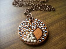 Cypress pine handcrafted pendant necklace. Recycled timber pendant.