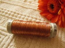 bobine FIL à broder Gutermann orange cuivré effet fil metallique col 36