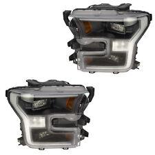 OEM NEW Front Right & Left LED Headlight Lamp Set (2) 2017-2018 Ford F-150