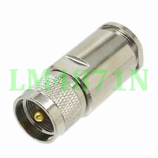 1pce Connector PL259 UHF male plug clamp LMR600 cable straight