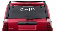 "Christ Life - Christian Jesus Cross  Sticker Decal Vinyl Family  11""x4"""