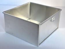 Square Aluminium Cake Tin Baking Pan 6""